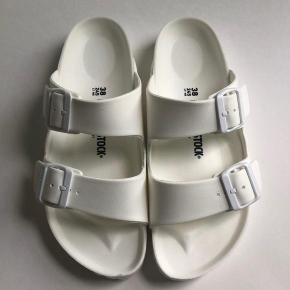 cf4e5eed94f9 Birkenstock Shoes - Birkenstock Arizona Eva Pool Sandals White 38